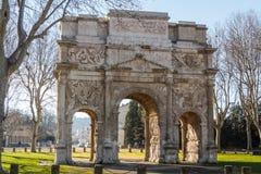Roman triumphal arch in Orange Stock Images