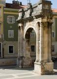 Roman Triumphal Arch (Pula - Croatia) Stock Images