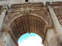 Roman Triumphal Arch. Arch of Septiumius Severus, Rome, Forum Royalty Free Stock Images