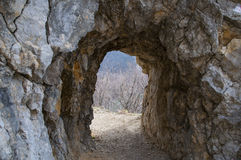 Roman tunnel Royalty Free Stock Photography