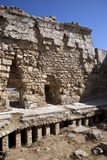 Roman Under-floor Heating. At the ruins of Salamis in Turkish Cyprus royalty free stock photo