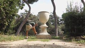 roman vase stock video