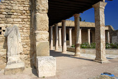Roman Villa. Entrance of a Roman Villa in Carthage, Tunis, Tunisia Royalty Free Stock Photos