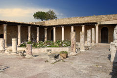 Roman Villa. Courtyard of Roman Villa called Des Voilieres in Carthage, Tunisia Royalty Free Stock Photography