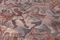 Roman Villa del Tellaro Sicilien fri tillträdesmosaik arkivfoton