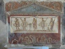 Roman Villa Mosaic em Pompeii foto de stock