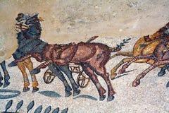 Roman villa mosaic - Sicily Royalty Free Stock Photography