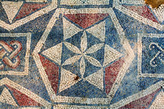 Roman villa mosaic - Sicily Stock Photo