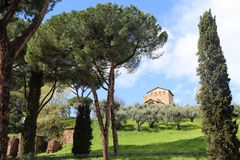 Roman Villa on the Palatine Hill, Rome stock image