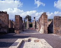 Roman villa and pool, Pompeii, Italy. Stock Images