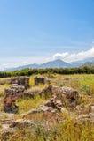Roman Villa Ruins on Crete Stock Photo
