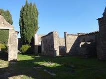 Roman Villa Ruins em Pompeii 18 fotografia de stock