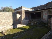 Roman Villa Ruins em Pompeii 12 foto de stock