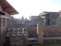 Roman Villa Ruins em Pompeii 11 fotografia de stock
