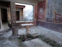 Roman Villa Ruins em Pompeii 9 imagem de stock royalty free