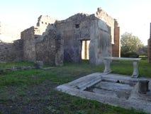 Roman Villa Ruins em Pompeii 6 foto de stock