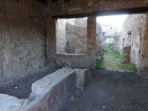 Roman Villa Ruins em Pompeii 2 foto de stock