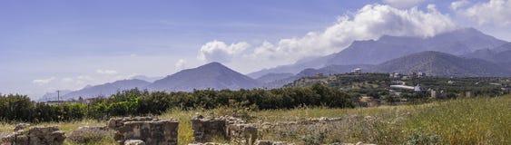 Roman Villa Ruins in Makry Gialos Stock Image