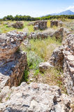 Roman Villa Ruins in Makrygialos Royalty Free Stock Photography