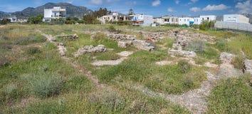 Roman Villa Ruins in Makrygialos Royalty Free Stock Image