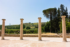 Roman villa surrounding at Piazza Armerina, Sicily Stock Photo
