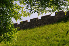 The roman wall around York Stock Photo