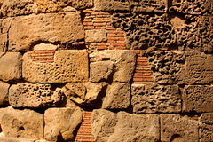 Roman wall, Barcelona Royalty Free Stock Photography