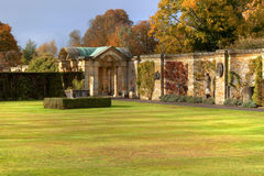 Roman wall in Hever Castle garden Royalty Free Stock Images