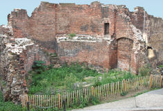 Roman Wall, London Royalty Free Stock Images