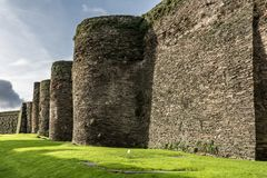 The Roman wall of Lugo surrounds the historic center of the Galician city of Lugo in the province of the same name in Spain. The Roman wall of Lugo surrounds the royalty free stock image