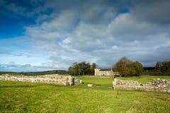 Roman Wall på Birdsowald royaltyfri foto