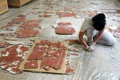 Roman Wall Paintig Stock Images