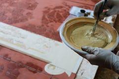 Roman  Wall painting - Spain Stock Photos