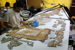 Roman  Wall painting - Spain Royalty Free Stock Image