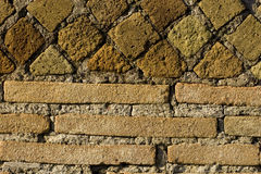 Roman wall texture. Detail of acient roman wall at Ostia Antica near Rome in Italy Royalty Free Stock Photos