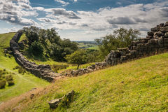 Roman Wall at Walltown Stock Photo