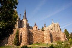 Roman walls and Episcopal Palace, Stock Image