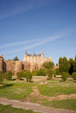 Roman walls and Episcopal Palace, Astorga Royalty Free Stock Image