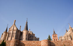 Roman walls and Episcopal Palace, Astorga Royalty Free Stock Photography