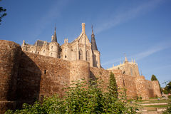 Roman walls and Episcopal Palace, Astorga Royalty Free Stock Photos