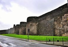 Roman Walls of Lugo Royalty Free Stock Photos