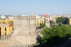 Roman walls in Seville Stock Image