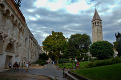 The Roman walls of Split, Croatia. royalty free stock images
