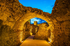 Roman walls of Tarragona - Catalonia, Spain. Roman walls of Tarragona in Catalonia, Spain royalty free stock photography