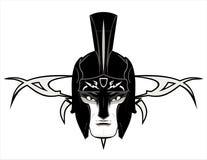 Roman Warrior Mascot Head lizenzfreie abbildung