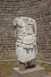 Roman warrior. Torso sculpture,  on the acropolis of  Pergamum near Bergama, Turkey Stock Image