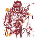 Roman warrior. On white background Royalty Free Stock Photos