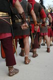 Roman warriors are waiting for the battle Stock Photo