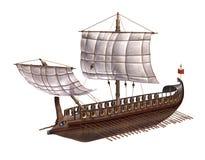 Roman Warship. A warship of the ancient Roman Empire - 3d render vector illustration