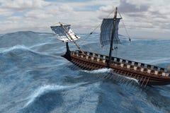 Roman Warship in Meer Stockbilder
